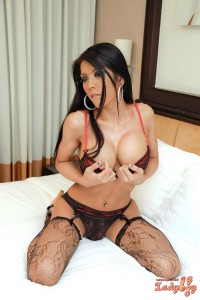 splendid asian shemale in sexy lingerie